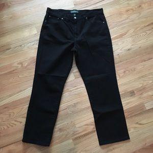 Lauren Ralph Lauren classic straight blk jeans 16